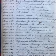 Pages of ledger showing entries related to chancel furnishings and equipment George Gough Booth Papers, Ledger—Cost of church, rectory, furnishings, etc., 1925-1935 (1981-01, 21:6)