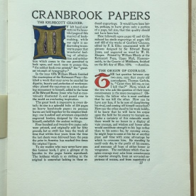 The Cranbrook Papers, Volume 4 George Gough Booth Papers (1981-01) 5:2. Copyright Cranbrook Archives, Center for Collections and Research.