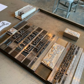 Letterpress Workshop process. Copyright Cranbrook Archives, Center for Collections and Research.