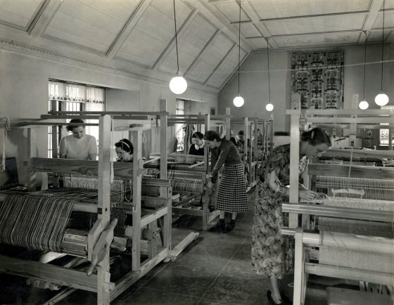Cranbrook Weaving Studio Loja Saarinen April 1936 Neg 3354
