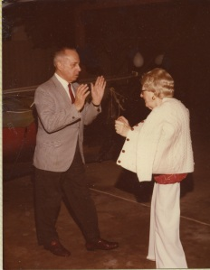 Melvyn and Sara Smith on the dance floor