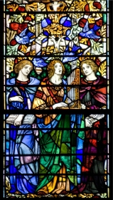 Panel 9, Musicians: Liza Lehman (English, 1862-1918); St. Cecilia, a patron of music, martyred in Sicily, ca. 176; Cecile Chaminade (French, 1857-1944), composer and pianist. Tom Booth, photographer. Copyright Christ Church Cranbrook 2010.