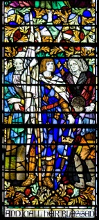 "Panel 14, Liberators: Lucretia Coffin Mott (American, 1793-1880), active against slavery and for women's rights; Jeanne d'Arc (French, 1412-31), mystic, military leader and martyr; Harriet Beecher Stowe (American, 1811-96), with slave boy, who greatly influenced the emancipation of African Americans through ""Uncle Tom's Cabin"". Tom Booth, photographer. Copyright Christ Church Cranbrook 2010."