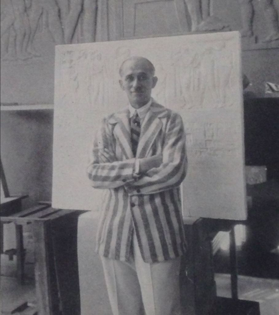 Geza Maroti in his Cranbrook Studio Cranbrook Archives
