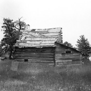 Abandoned building from the House of David Colony on High Island. Photo by Robert Hatt. Courtesy Cranbrook Archives.