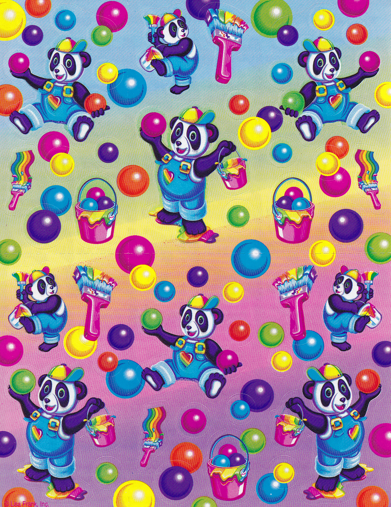 Lisa Frank Panda Painter Scented Stickers Nicole Flickr
