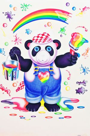 Panda Painter by Lisa Frank courtesy of Carly Marks-Foundations Magazine