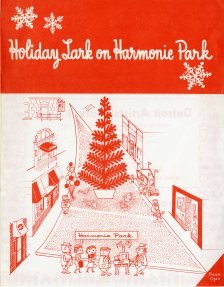 Front page of flyer for Harmonie Park shopping event. Copyright Cranbrook Archives.