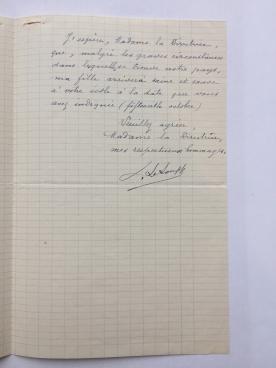 Letter (page 2), Mdm LeLoupp to Ms. Augur, September 25, 1939. Cranbrook Archives.
