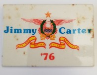 Political campaign button for Jimmy Carter for President, 1976 (SM 2017.709).