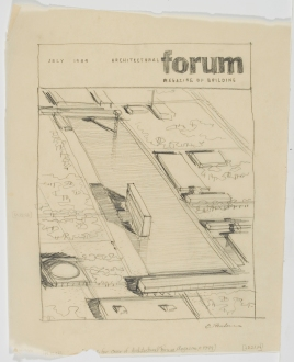 Arch Forum July 1949 Glen Paulsen rendering Eero Saarinen ad21-14
