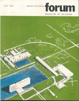 Architectural Forum July 1949 Glen Paulsen cover for Eero Saarinen