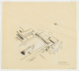 Eero Saarinen GM Tech Center Sketch Small ad21-12